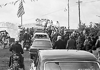 American President Richard Nixon's Motor Cavalcade leaving Timahoe Co Kildare, 05/10/1970 (Part of the Independent Newspapers Ireland/NLI Collection).