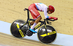 Russia's Alexander Evtushenko in the men's 4000m individual pursuit qualifying during day four of the 2018 European Championships at the Sir Chris Hoy Velodrome, Glasgow. PRESS ASSOCIATION Photo. Picture date: Sunday August 5, 2018. See PA story CYCLING European. Photo credit should read: John Walton/PA Wire. RESTRICTIONS: Editorial use only, no commercial use without prior permission