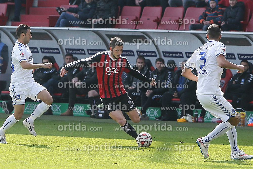 15.03.2015, Audi Sportpark, Ingolstadt, GER, 2. FBL, FC Ingolstadt 04 vs Karlsruher SC, 25. Runde, im Bild Mathew Leckie (Nr.7, FC Ingolstadt 04) // during the 2nd German Bundesliga 25th round match between FC Ingolstadt 04 and Karlsruher SC at the Audi Sportpark in Ingolstadt, Germany on 2015/03/15. EXPA Pictures &copy; 2015, PhotoCredit: EXPA/ Eibner-Pressefoto/ Strisch<br /> <br /> *****ATTENTION - OUT of GER*****