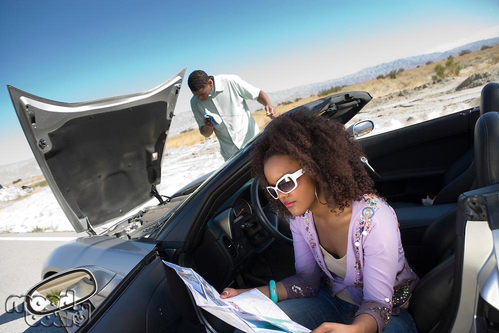 Couple Having Car Trouble