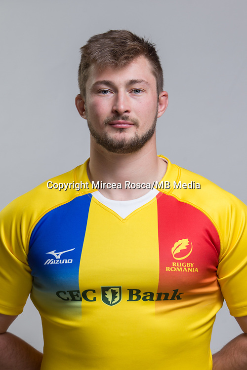 CLUJ-NAPOCA, ROMANIA, FEBRUARY 27: Romania's national rugby player Marius Antonescu pose for a headshot, on February 27, 2018 in Cluj-Napoca, Romania. (Photo by Mircea Rosca/Getty Images)
