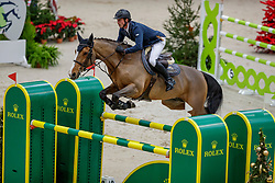 BAUMANN Elian (SUI), Campari Z<br /> Genf - CHI Geneve Rolex Grand Slam 2019<br /> Prix des Communes Genevoises<br /> 2-Phasen-Springen<br /> International Jumping Competition 1m50<br /> Two Phases: A + A, Both Phases Against the Clock<br /> 13. Dezember 2019<br /> © www.sportfotos-lafrentz.de/Stefan Lafrentz