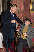 JAMES PEMBROKE, WILFRED D'EATH,  The Oldie Xmas party, The Garrick club. London, , 10 December 2019