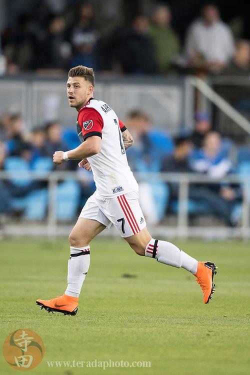 May 19, 2018; San Jose, CA, USA; D.C. United forward Paul Arriola (7) during the first half against the San Jose Earthquakes at Avaya Stadium.