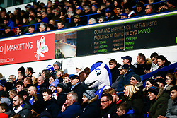 """Ipswich Town mascot """"Bluey"""" amongst the Ipswich Town supporters - Mandatory by-line: Phil Chaplin/JMP - 13/02/2019 - FOOTBALL - Portman Road - Ipswich, England - Ipswich Town v Derby County - Sky Bet Championship"""