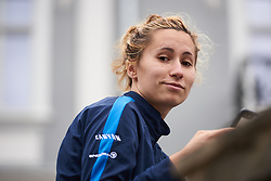 Movistar Women's Team soigneur, Laura Weislo at Lotto Thuringen Ladies Tour 2018 - Stage 6, a 137.3 km road race starting and finishing in Gotha, Germany on June 2, 2018. Photo by Sean Robinson/velofocus.com