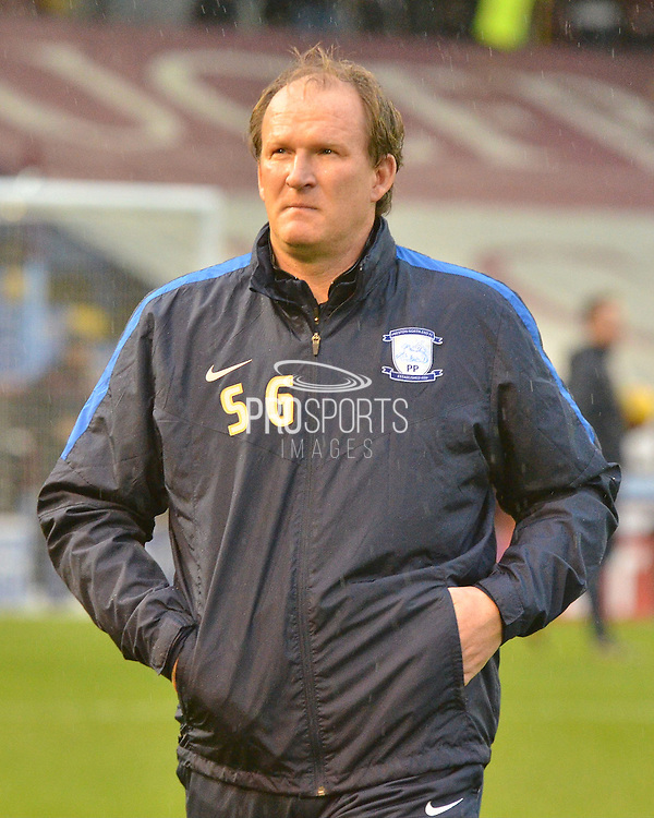 Preston North End Manager, Simon Grayson during the Sky Bet Championship match between Burnley and Preston North End at Turf Moor, Burnley, England on 5 December 2015. Photo by Mark Pollitt.