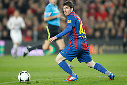 25.01.2012, Stadion Camp Nou, Barcelona, ESP, Copa del Rey, FC Barcelona vs Real Madrid, im Bild Barcelona's Lionel Messi // during the football match of spanish Copy del Rey, between FC Barcelona and Real Madrid at Camp Nou stadium, Barcelona, Spain on 2012/01/25. EXPA Pictures © 2012, PhotoCredit: EXPA/ Alterphotos/ Cesar Cebolla..***** ATTENTION - OUT OF ESP and SUI *****