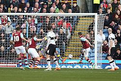 Burnley's Dean Marney scores the second goal - Photo mandatory by-line: Matt Bunn/JMP - Tel: Mobile: 07966 386802 22/02/2014 - SPORT - FOOTBALL - Turf Moor Stadium- Burnley - Burnley  v Derby County- Sky Bet Championship