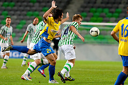 Matic Zitko #24 of Celje during football match between NK Olimpija and NK Celje in 6th Round of Prva liga NZS 2012/13, on August 18, 2012 in SRC Stozice, Slovenia. (Photo by Urban Urbanc / Sportida.com)