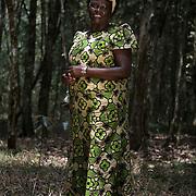 Nobel Peace Prize laureate Wangari Mathai in  Karura Forest in Nairobi.