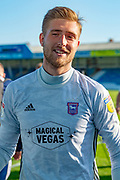 Ipswich Town goalkeeper Tomas Holy (1) smiles after  winning the game after the EFL Sky Bet League 1 match between Gillingham and Ipswich Town at the MEMS Priestfield Stadium, Gillingham, England on 21 September 2019.
