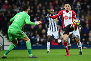 Southampton midfielder Oriol Romeu (14) looks to control during the Premier League match between West Bromwich Albion and Southampton at The Hawthorns, West Bromwich, England on 3 February 2018. Picture by Dennis Goodwin.