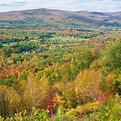 Fall in New England as seen from the Mohawk Trail (MA 2) in Florida, Massachusetts.