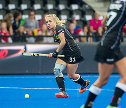 Germany's Lydia Hasse. Germany v Spain - 3rd/4th Playoff Unibet EuroHockey Championships, Lee Valley Hockey & Tennis Centre, London, UK on 30 August 2015. Photo: Simon Parker