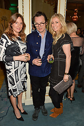 Left to right, EMILY OPPENHEIMER, LUKE IRWIN and JENNY HALPERN-PRINCE at a party to celebrate the publication of The Romanovs 1613-1918 by Simon Sebag-Montefiore held at The Mandarin Oriental, 66 Knightsbridge, London on 2nd February 2016.