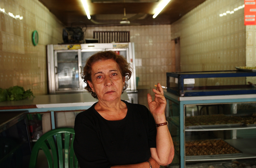 Yamile Bader Sleiman, a muslim from Lebanon, stands in her family's bakery and sandwich shop in Caracas. The number of muslim's in Venezuela have been increasing, with the majority living in Caracas and Margarita Island.