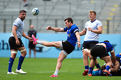 Ben Spencer box-kicks the ball, Bath Rugby were allowed to start Stage Two of the Premiership Rugby return to play protocol - Mandatory byline: Patrick Khachfe/JMP - 07966 386802 - 06/08/2020 - RUGBY UNION - The Recreation Ground - Bath, England - Bath Rugby training