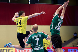 Robert Markotic of RK Gorenje Velenje during handball match between RK Gorenje Velenje and Skjern Handbold in Group Phase C+D of VELUX EHF Champions League, on 1st October, 2017 in Rdeca dvorana, Velenje, Slovenia. Photo by Urban Urbanc / Sportida