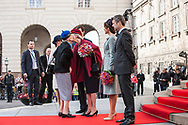 03.10.2017. Copenhagen, Denmark. <br /> Queen Margrethe, Princess Marie, Prince Joachim, Princess Benedikte, Crown Princess Mary and Crown Prince Frederik attended the opening session of the Danish Parliament (Folketinget) at Christiansborg Palace in Copenhagen, Denmark.<br /> Photo: © Ricardo Ramirez