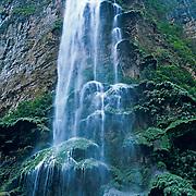 Christmas tree waterfall. Sumidero canyon. Chiapas, Mexico.