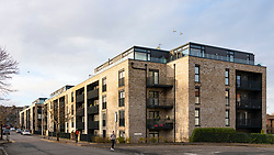 View of new modern apartment building in Edinburgh, Scotland, UK
