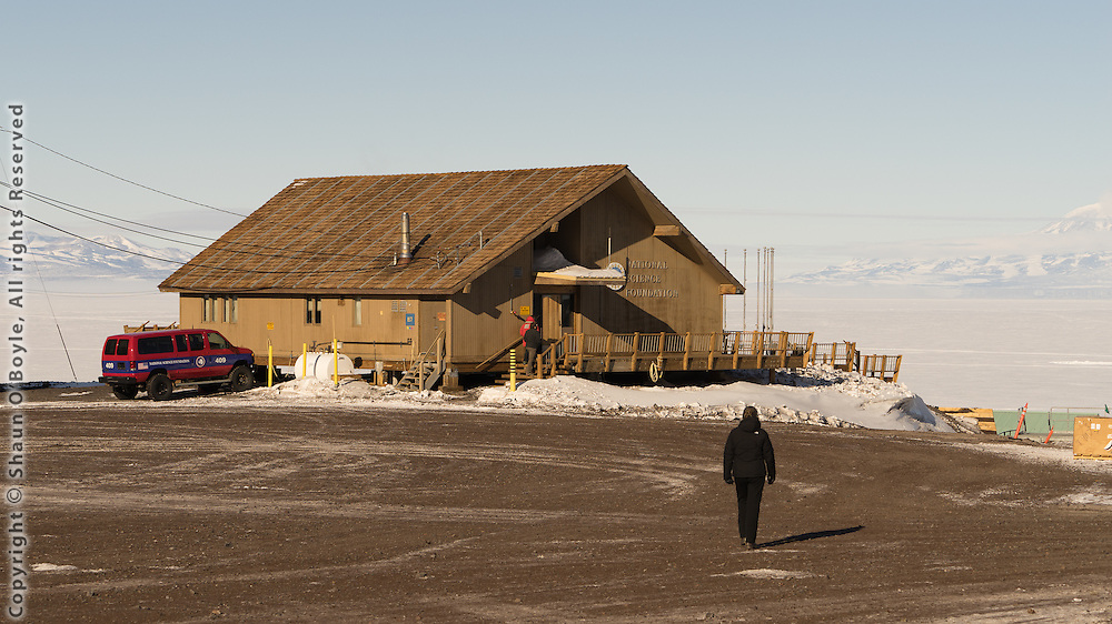 The Chalet, NSF administration HQ where first day welcome and safety briefing takes place.