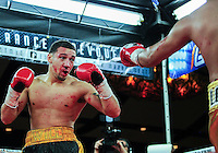 February 21, 2016: A bloody Will Madera of USA during the super middleweight bout against Randy Lozano of Mexico as part of the Fight Club 18 gala at the Hilton Lac Leamy in Gatineau, Quebec, Canada. (Photo by Steve Kingsman/Icon Sportswire)