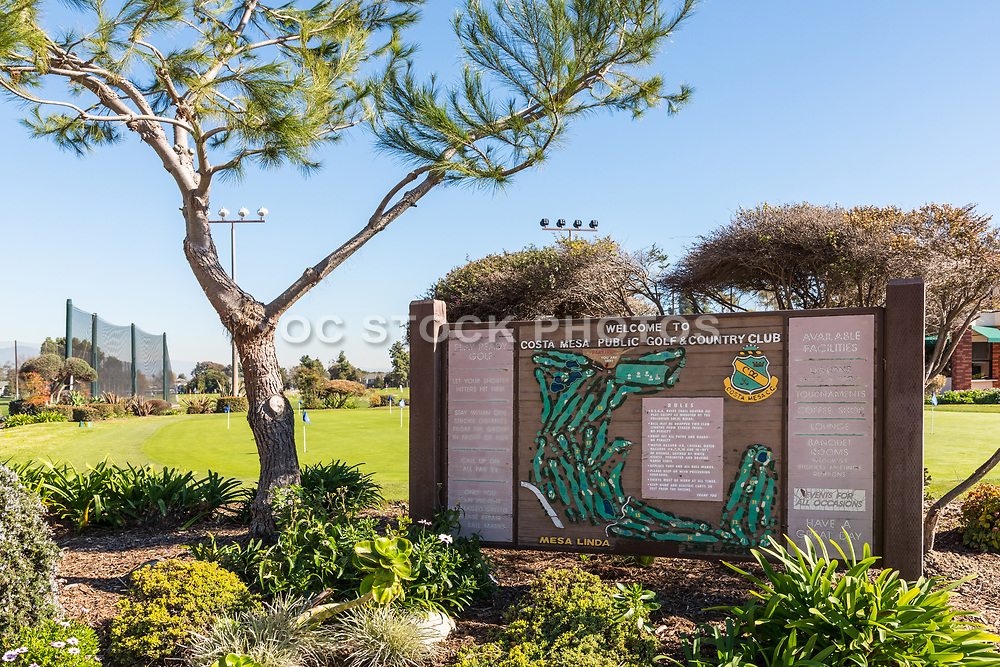Costa Mesa Public Golf and Country Club Welcome Signage