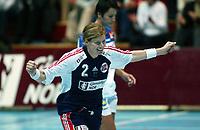 Håndball, 26. september 2002. Treningskamp, Norge - Jugoslavia 31-19. Tonje Larsen, Norge.