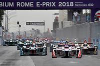 Start<br /> Roma 14- 04-2018 Eur<br /> Roma E  Prix 2018 / Formula E Championship<br /> Foto Antonietta Baldassarre Insidefoto