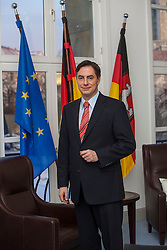 The half-Scottish Prime Minister David McAllister of Lower Saxony, in his cabinet office..©Michael Schofield.