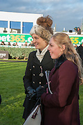 BELLA LLOYD WEBBER; DANIELLE LLOYD WEBBER; , Hennessy Gold Cup, The Racecourse Newbury. 30 November 2013.