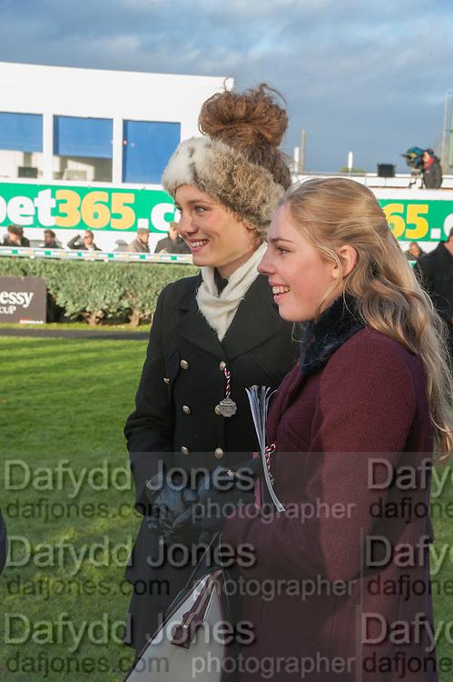 BELLA LLOYD WEBBER; DANIELLE LLOYD WEBBER; , Hennessy Gold Cup, The Racecourse Newbury. 30 November 2013.