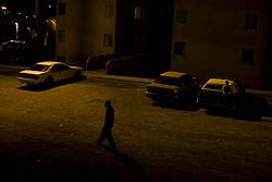 Night time in the poor, dangerous neighborhoods of Nogales.
