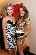 CHESKA HULL; GABRIELLA ELLIS, The London Bar and Club awards. Intercontinental Hotel. Park Lane, London. 6 June 2011. <br /> <br />  , -DO NOT ARCHIVE-© Copyright Photograph by Dafydd Jones. 248 Clapham Rd. London SW9 0PZ. Tel 0207 820 0771. www.dafjones.com.