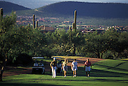 A foursome walks up the fairway at Ventana Canyon Golf Course, Tucson, Arizona..Media Usage:.Subject photograph(s) are copyrighted Edward McCain. All rights are reserved except those specifically granted by McCain Photography in writing...McCain Photography.211 S 4th Avenue.Tucson, AZ 85701-2103.(520) 623-1998.mobile: (520) 990-0999.fax: (520) 623-1190.http://www.mccainphoto.com.edward@mccainphoto.com.