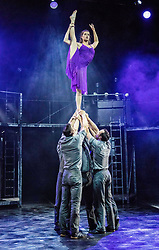 The Pleasance venue launched its 2017 Edinburgh Fringe Festival programme hosted by comedian Ed Gamble<br /> <br /> Pictured: Cirque Eloize production of Cirkopolis play at Pleasance at EICC