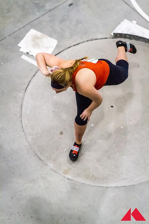 ECAC Indoor Champs, womens shot put, Bucknell