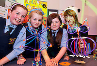 Sophie Dillon, Orla de Vere,  Aine Rooney  and Maya Skzyszenoska  from Croi Naofa Athenry who took part in the  Medtronic Knex Challenge at the Radisson blu Hotel.  Medtronic KNEX Challenge is for  primary school children completing  exceptional tasks which will be judged on the level of engineering, innovation and communication displayed by the teams.. .The final event of the week is the Medtronic  Junior FIRST LEGO League challenge on THURSDAY. This is the second year The Galway Education Centre has hosted this competition - one of only six countries in the world who do so. Following the success of last year, over 500 school children from all over the country are expected to come along and practice their robotics, presentation and teamwork skills live on the night!. .Bernard Kirk, Director of The Galway Education Centre says; ?Working on this three day event every year is fun and exciting and always surprising. The talent, instinct and drive we discover in these young children is an inspiration to all of us. We look forward to the continued success of all of our challenges which would not be possible without the support of companies like Medtronic, SAP, HP and LEGO?.. .All of these events are open to the public and free admission. They will also be streamed live on line at www.galwayeducationcentre.ie. Photo:Andrew Downes.