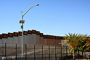 Border Wall in the San Ysidro District of San Diego California