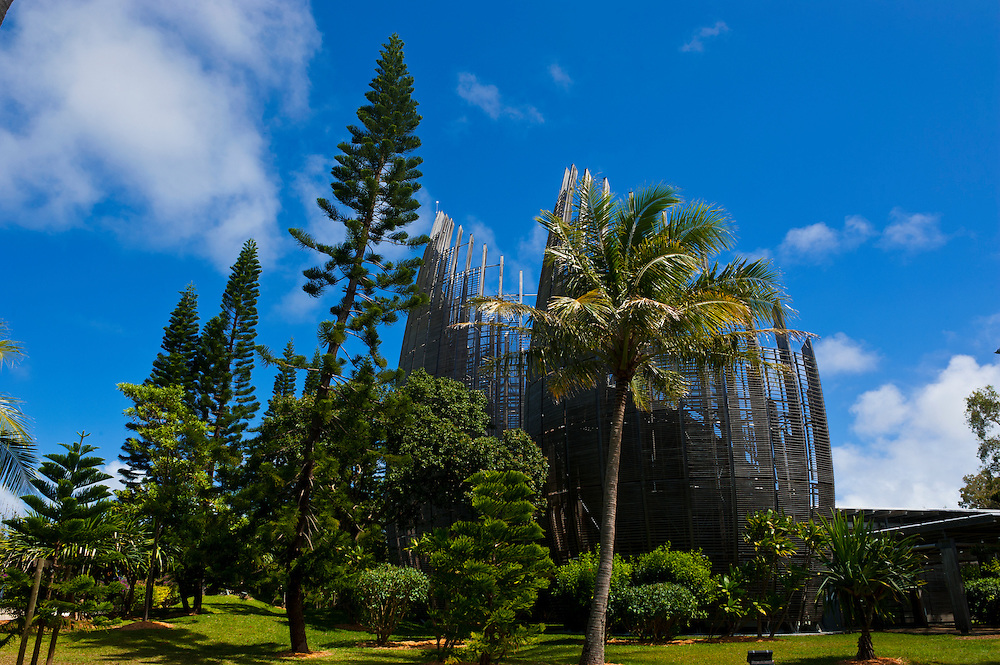 Tjibaou cultural center in Noumea capital of New Caledonia, Melanesia, South Pacific