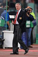 "Manchester's manager Sir Alex Ferguson<br /> l'allenatore del Manchester Alex Ferguson<br /> Roma 2/4/2008 Stadio ""Olimpico"" <br /> Champions League Quarter finals - Quarti di finale First Leg<br /> As Roma Manchester United (0-2)<br /> Foto Andrea Staccioli Insidefoto"