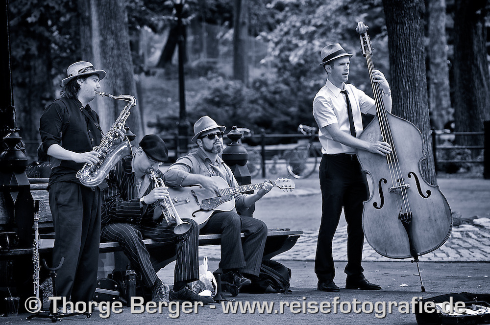 Die Tin Pan Blues Band live im Central Park