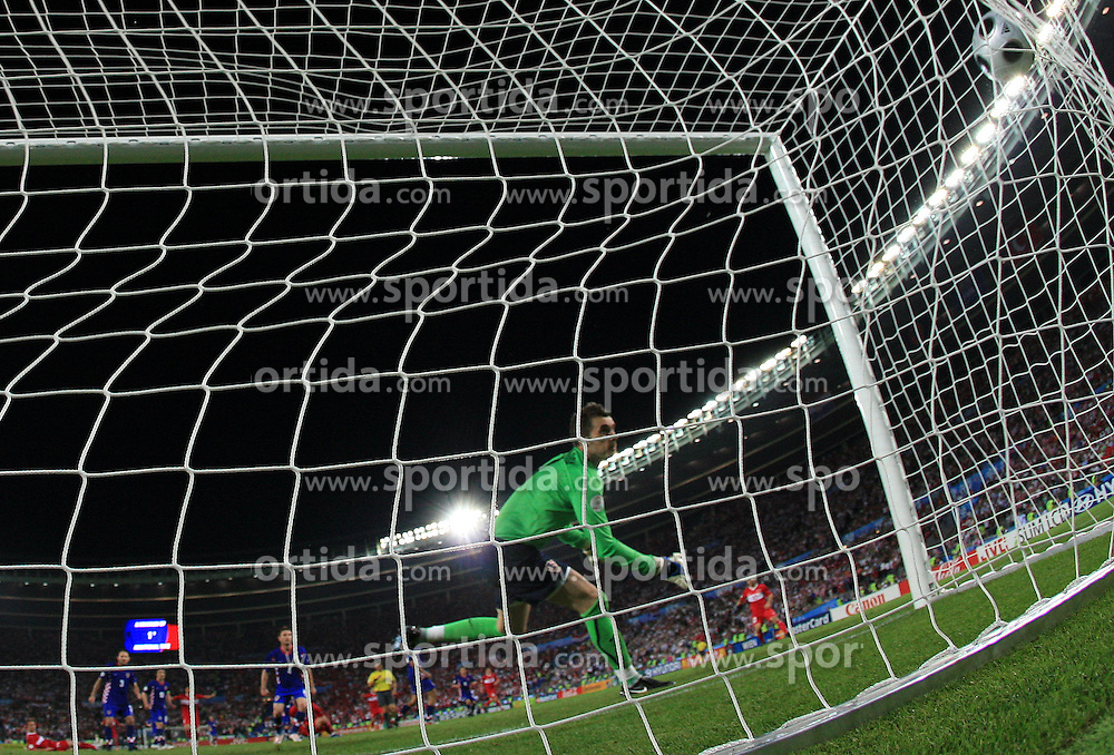 Goalkeeper of Croatia Stipe Pletikosa get a goal in last minute during the UEFA EURO 2008 Quarter-Final soccer match between Croatia and Turkey at Ernst-Happel Stadium, on June 20,2008, in Wien, Austria.  Won of Turkey after penalty shots. (Photo by Vid Ponikvar / Sportal Images)