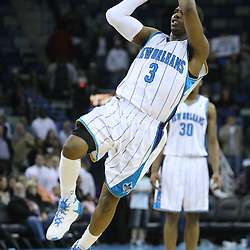 30 January 2009:  New Orleans Hornets guard Chris Paul (3) shoots during a 91-87 loss by the New Orleans Hornets to Golden State Warriors at the New Orleans Arena in New Orleans, LA.