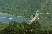 overhead view of Bear Mountain Bridge