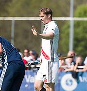 AMSTELVEEN -  Hockey Hoofdklasse heren Pinoke-Amsterdam (3-6). Mirco Pruyser (A'dam) heeft gescoord.   COPYRIGHT KOEN SUYK