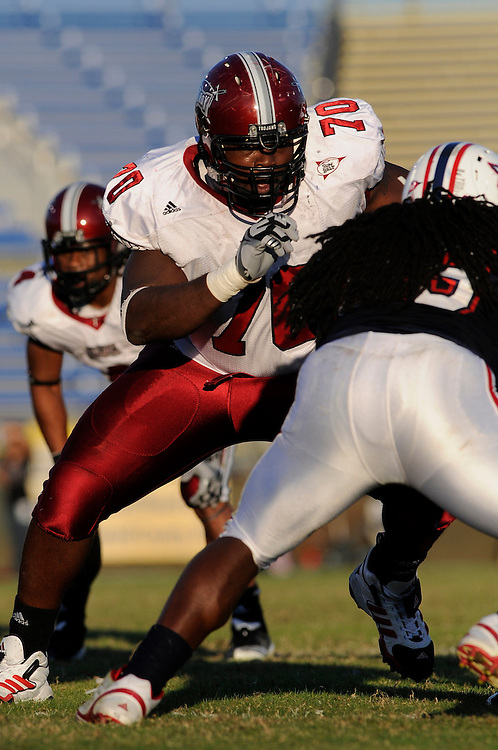 December 4, 2010: James Brown of the Troy Trojans in action during the NCAA football game between Troy and the Florida Atlantic Owls. The Trojans defeated the Owls 44-7.