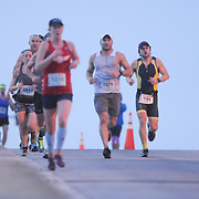 Runners participate in the Quintiles Wrightsville Beach Marathon/Half Marathon Sunday March 22, 2015 in Wilmington, N.C. (Jason A. Frizzelle)